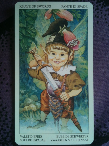 photo of card from The Enchanted Tarot by Giacinto Gaudenzi